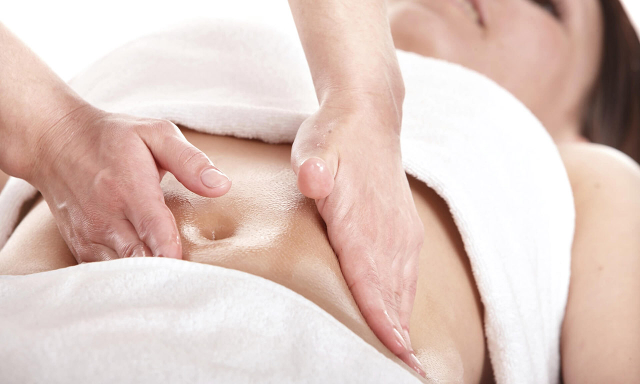 Massage for tightening the skin of the abdomen