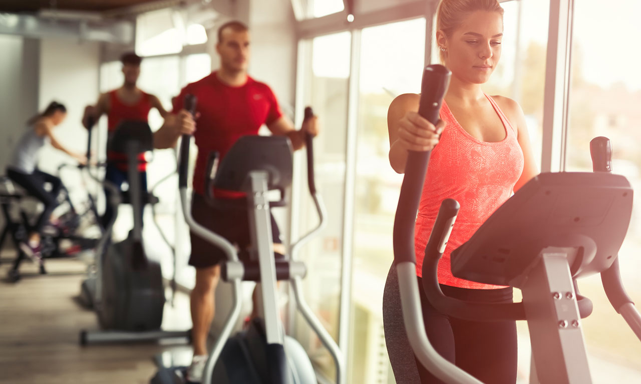 Exercise on an elliptical trainer