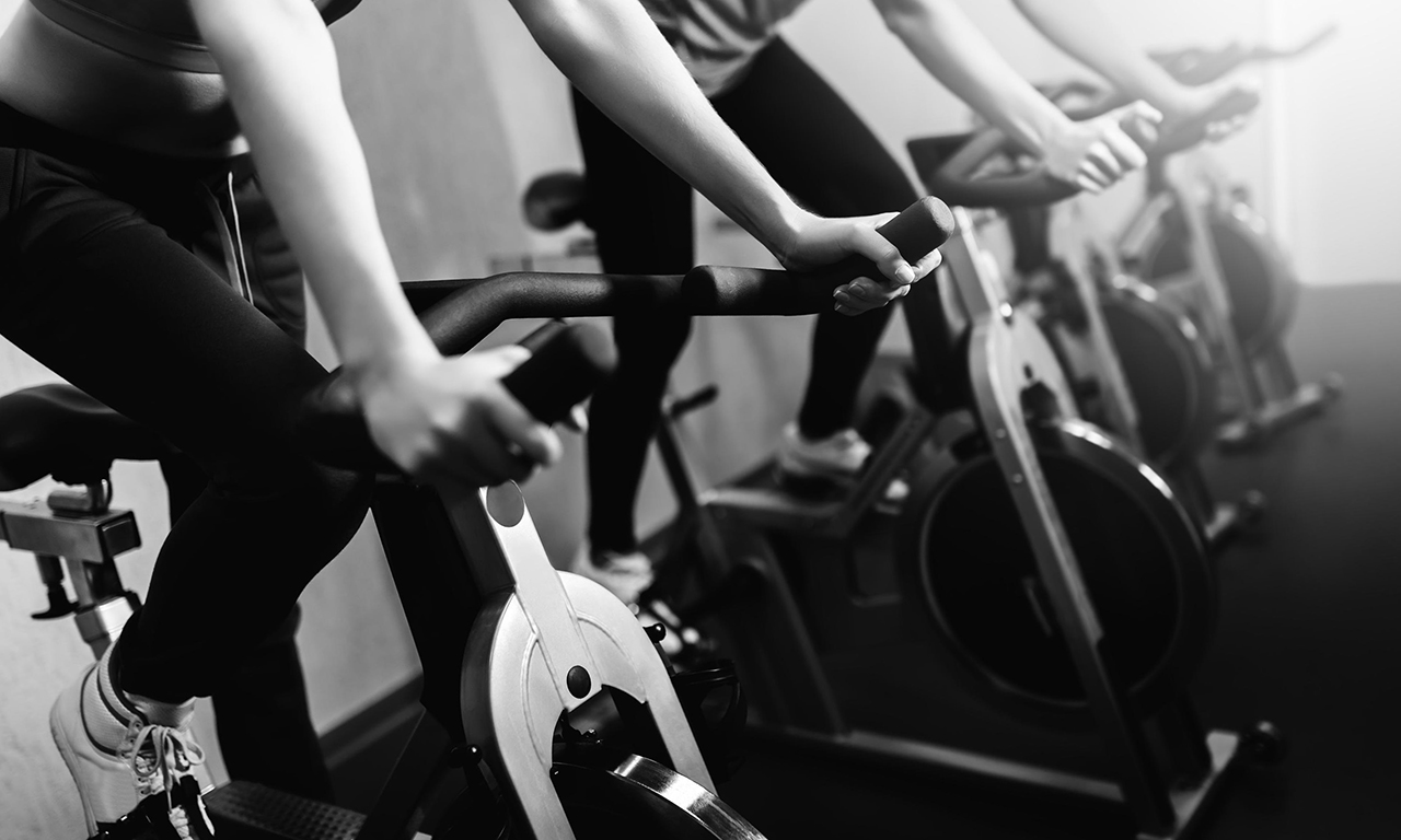 What muscles are involved in an exercise bike