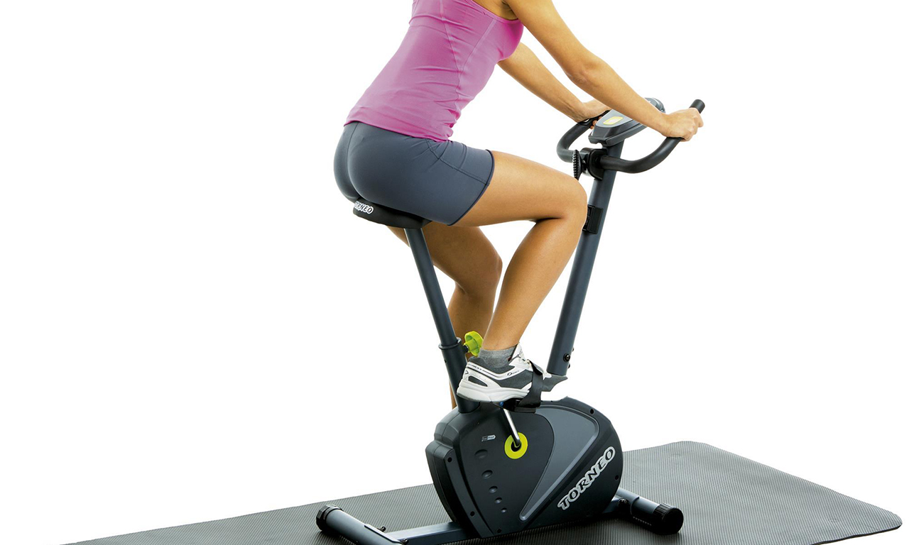 Stable pace of exercise on a stationary bike