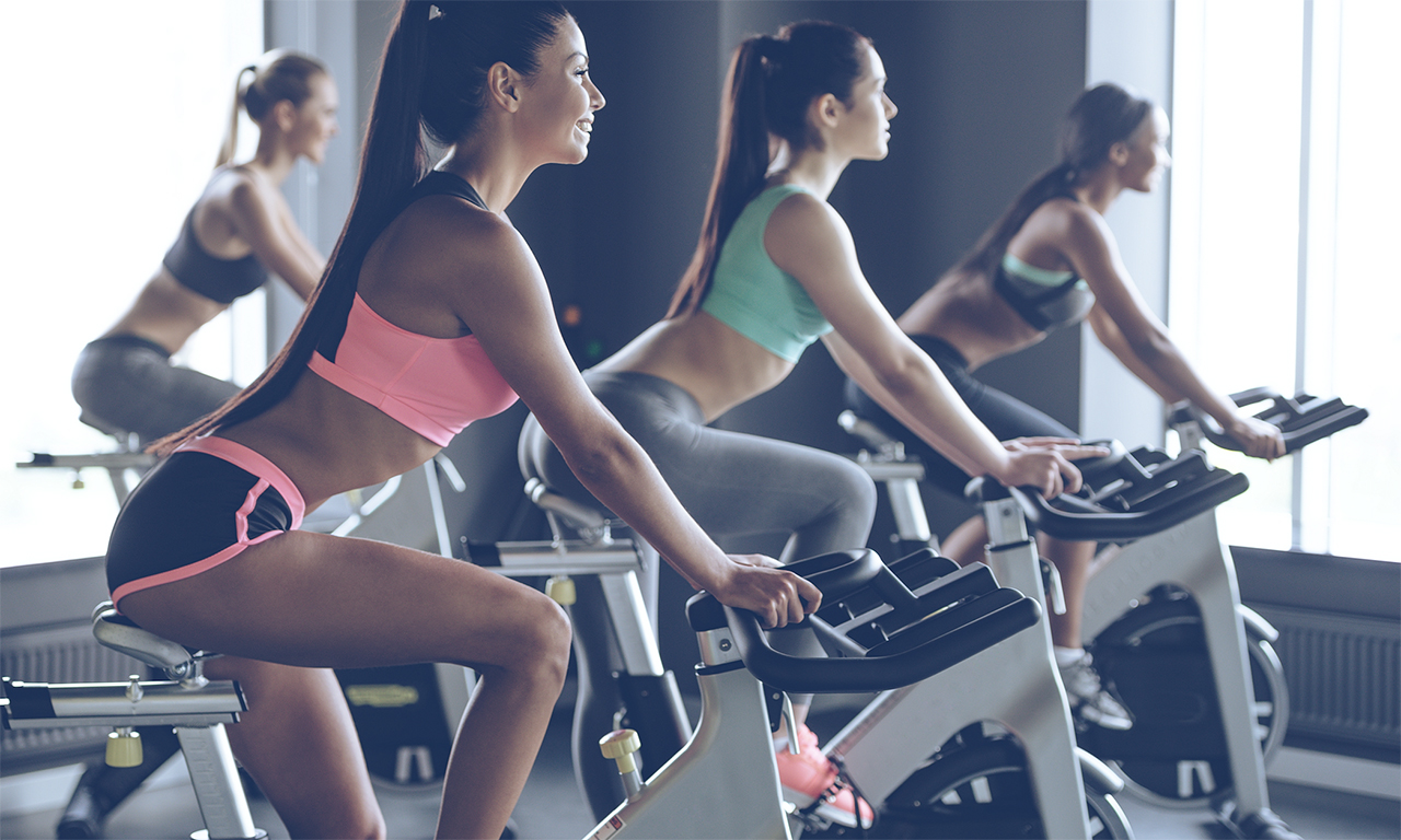 Strengthening the respiratory system during exercise on a stationary bike