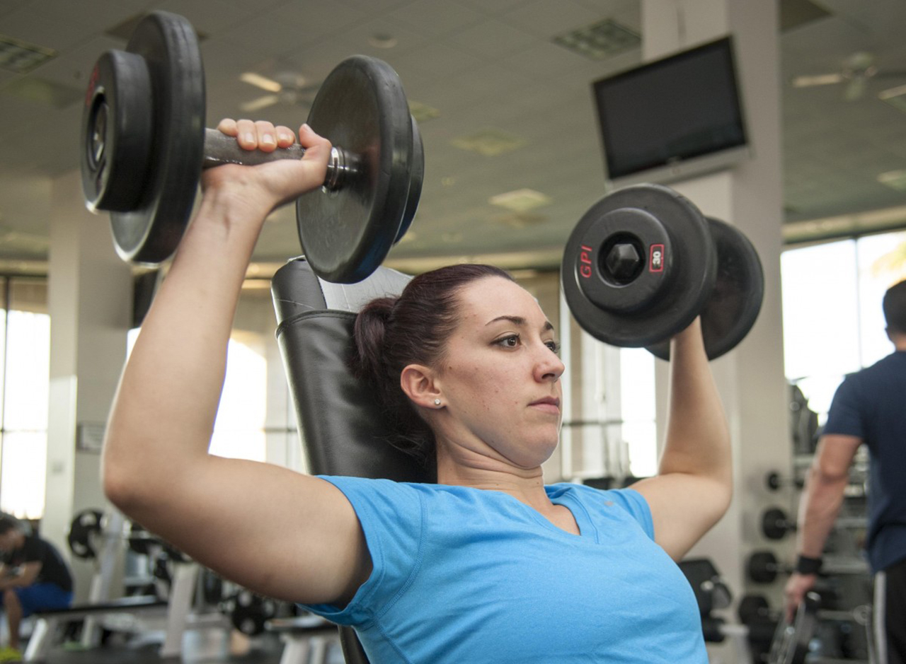Weight Training Exercises In The Gym