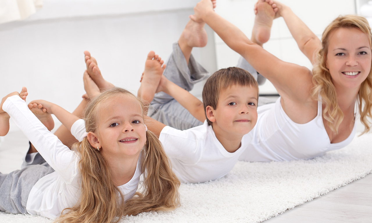 Morning exercises with children
