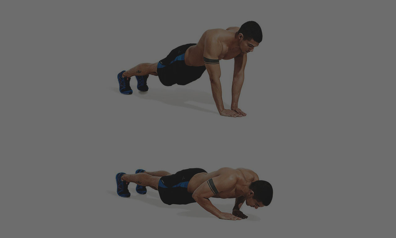 Narrow push ups