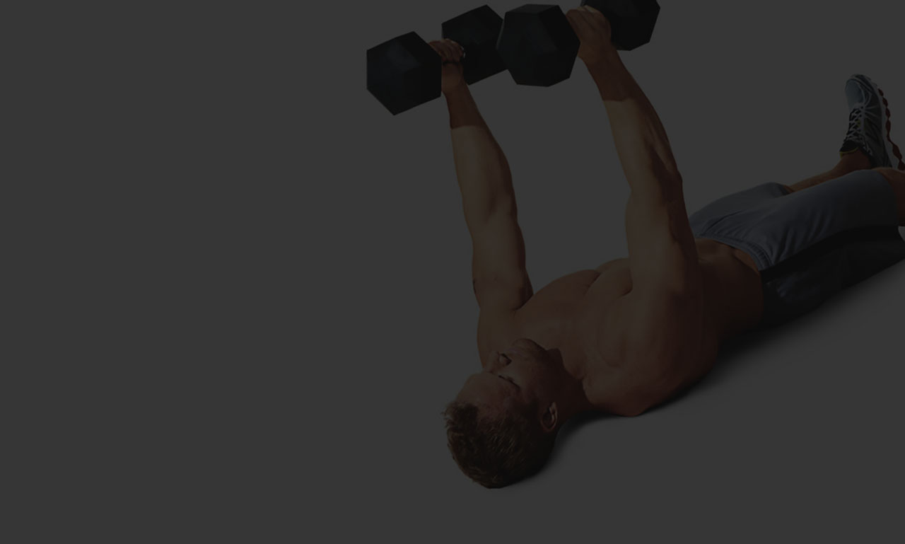 Dumbbell bench press lying on the floor